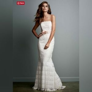 25cfc822fd15 Galina Dresses - 💍David s Bridal Galina Lace Sheath Wedding Dress